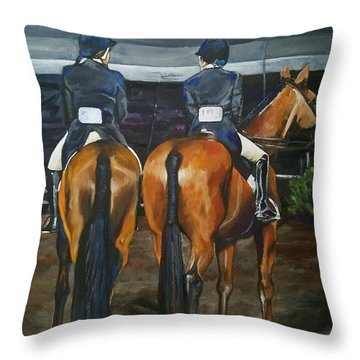 Ladies At Sussex Hunt Night Throw Pillow