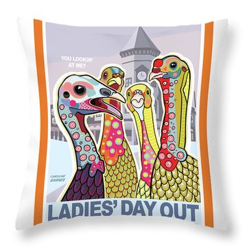 Ladies' Day Out Throw Pillow