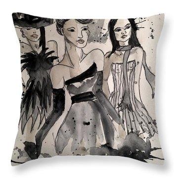 Ladies Galore Throw Pillow