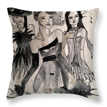Ladies Galore Throw Pillow