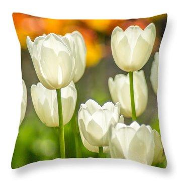 Ladies In White Throw Pillow
