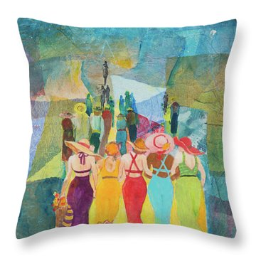 Ladie's Night Out Throw Pillow