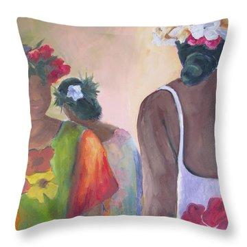 Ladies Of Marquesas Throw Pillow