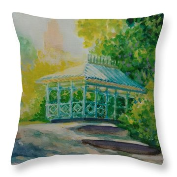 Ladies Pavilion, Cpnyc Throw Pillow