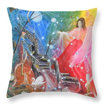 Lady Ardine - Finder Of Lost Treasures Throw Pillow by Jackie Mueller-Jones