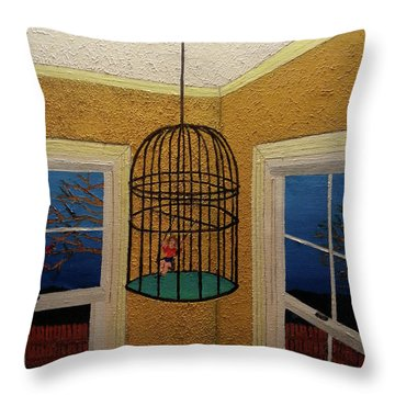 Lady Bird Throw Pillow