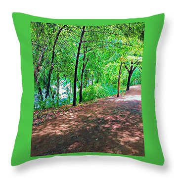 Lady Bird Trail Throw Pillow