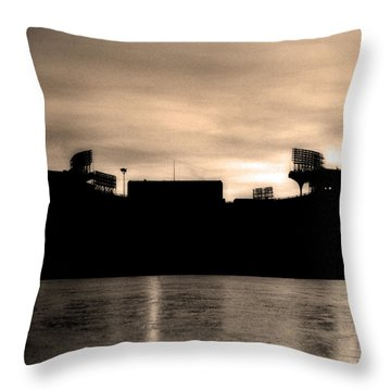 Lady By The Lake Throw Pillow by Kenneth Krolikowski