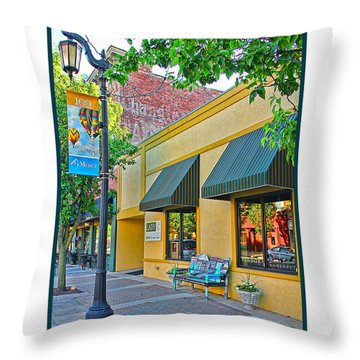 Lady C Storefront-sylvania Throw Pillow