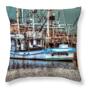 Lady De Ette Throw Pillow