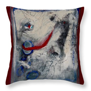 Lady Deciding Throw Pillow