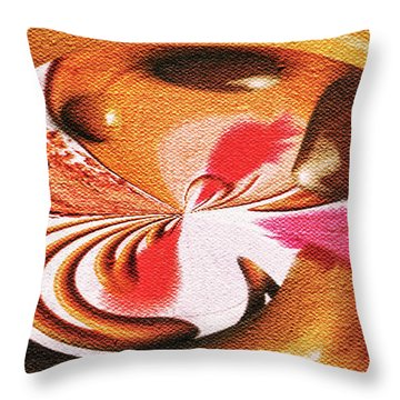 Lady Godiva Throw Pillow by Paula Ayers