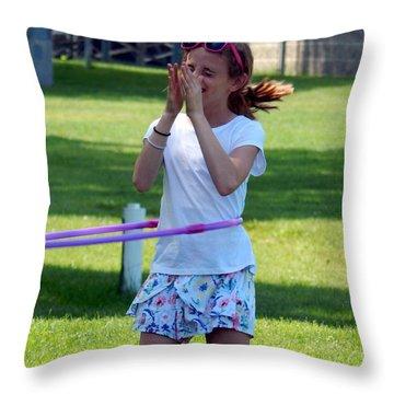 Lady Grace Hula Throw Pillow