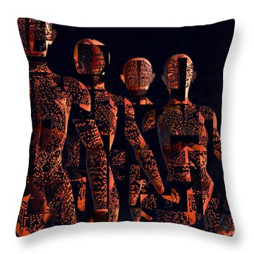 Throw Pillow featuring the photograph Lady Hunters by Luc Van de Steeg
