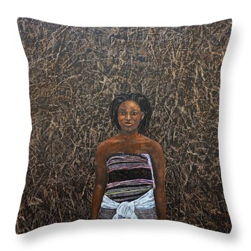 Lady In  A Kikoyi Throw Pillow