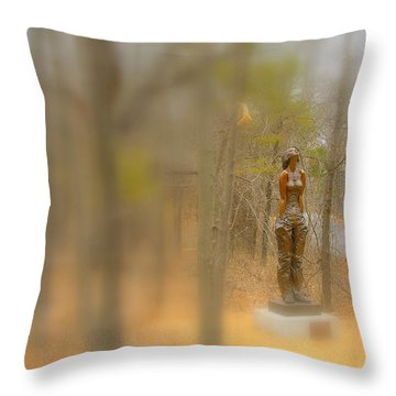 Lady In Bronze Throw Pillow