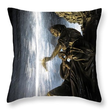 Lady In The Fountain Throw Pillow