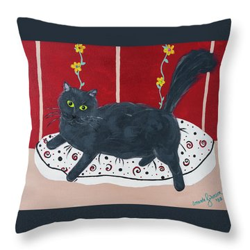 Lady Kitty Throw Pillow