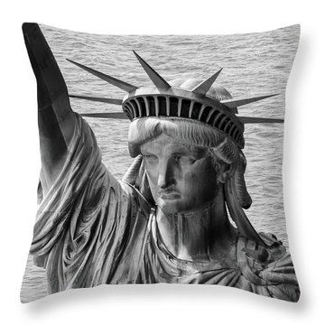 Statue Of Liberty National Monument Throw Pillows