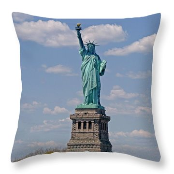 Lady Liberty Throw Pillow by Helen Haw