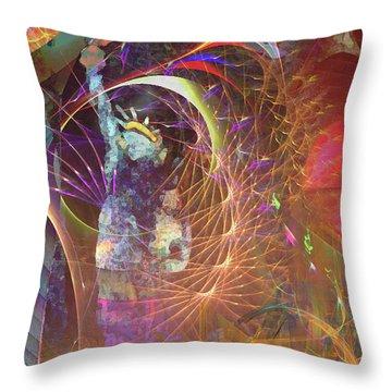 Lady Liberty Throw Pillow by John Beck