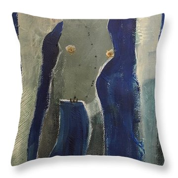 Lady Long Arms Throw Pillow