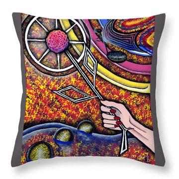 Lady Throw Pillow by Luke Galutia