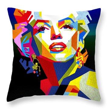 Lady Monroe Throw Pillow