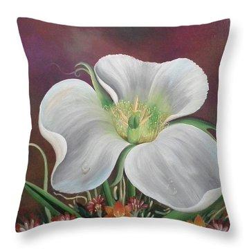 Lady Moon Throw Pillow