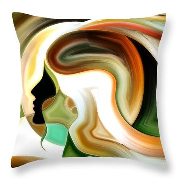 Lady Of Color Throw Pillow by Karen Showell