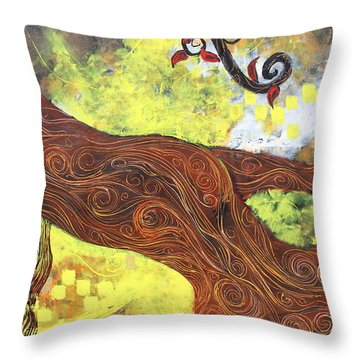 Lady Of Elation Throw Pillow