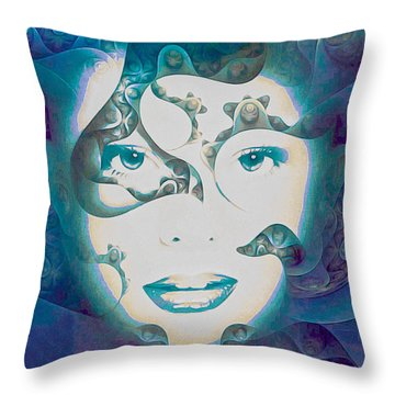 Lady Of The Lake Throw Pillow by Susan Maxwell Schmidt