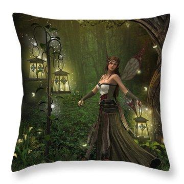 Lady Of The Lanterns Throw Pillow