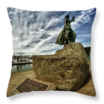 Lady Of The Sea Throw Pillow