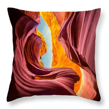 Lady Of The Wind Throw Pillow