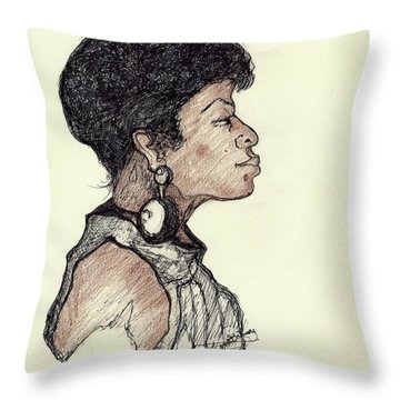 Lady Pride Throw Pillow