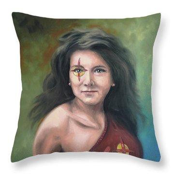 Lady Starr Throw Pillow