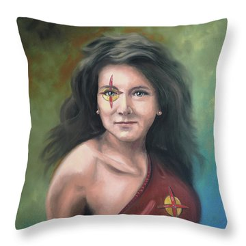 Lady Starr Throw Pillow