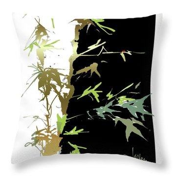 Throw Pillow featuring the mixed media Ladybug by Larry Talley