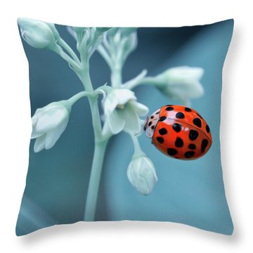Throw Pillow featuring the photograph Ladybug by Mark Fuller