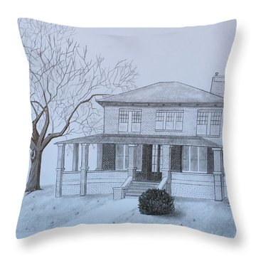 Lady's 1950 Throw Pillow