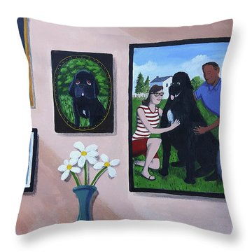 Lady's Family Gallery Throw Pillow