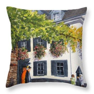 Lady's Man Throw Pillow