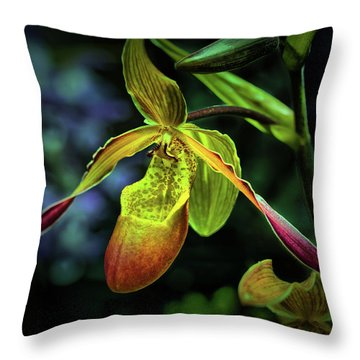 Throw Pillow featuring the photograph Lady's Slipper by Richard Goldman