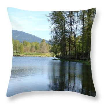 Lafarge Lake Serenity Throw Pillow by Rod Jellison