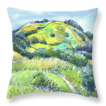 Throw Pillow featuring the painting Lafayette Hills, Ca by Judith Kunzle