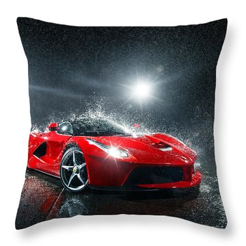 Laferrari Splash Throw Pillow