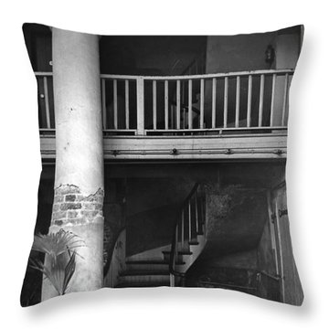 Lafittes Patio At The Absinthe House Throw Pillow