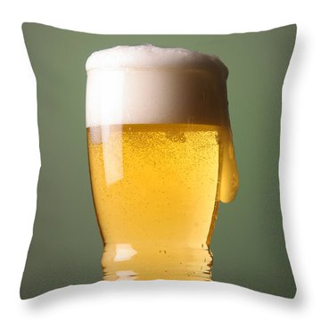 Lager Beer Throw Pillow