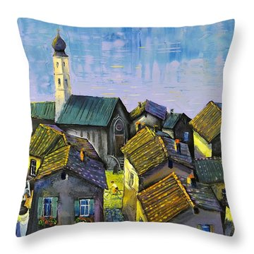 Lago   Caldonazza Throw Pillow